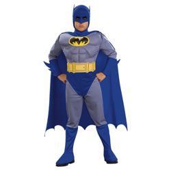 Batman Brave & The Bold Muscle Chest Fancy Dress Outfit, Small