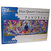 Disney Princess 1,000 Piece Panorama Walt Disney Jigsaw Puzzle
