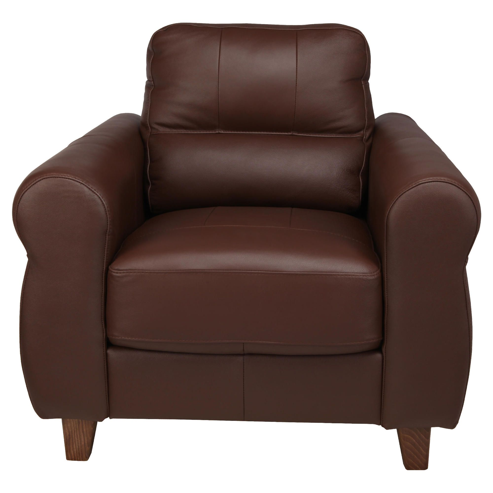 Fabio Leather Armchair Cognac at Tescos Direct