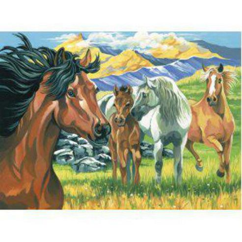 KSG Wild Horses Masterpieces Paint By Numbers