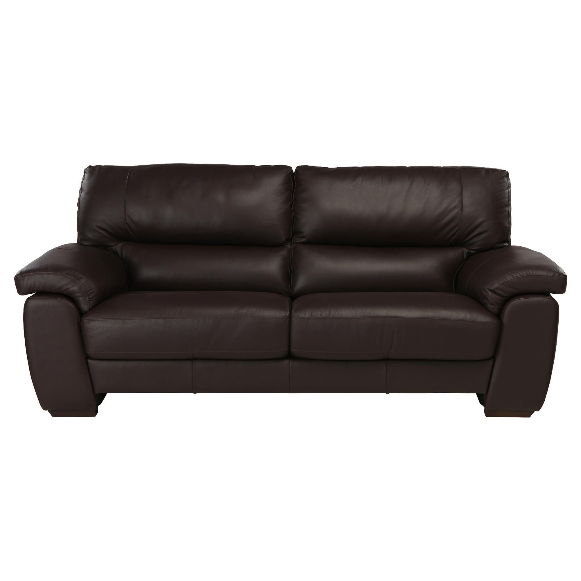 Alfredo Large Leather Sofa Brown at Tesco Direct