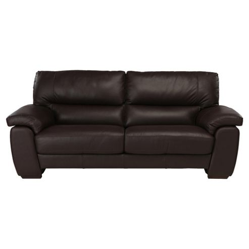 Alfredo Large Leather Sofa Brown