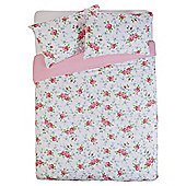 Tesco Ditsy Floral Duvet Cover Set - Pink, Double