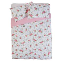 Tesco Ditsy Floral Duvet Set - Pink, Double
