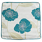 Tesco poppy cushion cover, teal