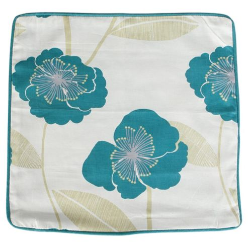 buy tesco poppy cushion cover teal from our cushions. Black Bedroom Furniture Sets. Home Design Ideas