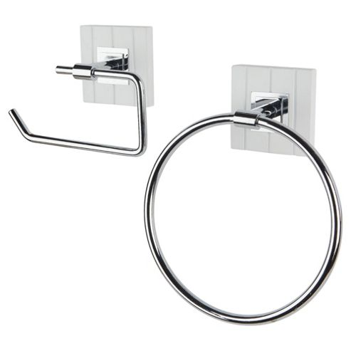 Southwold Towel Ring and Toilet Roll Holder Set