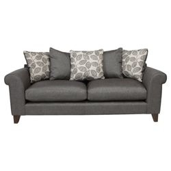Amersham Large Scatter Back Sofa Charcoal