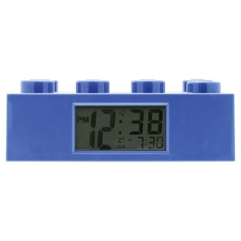 LEGO Brick Alarm Clock Blue
