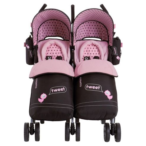You 2 Little Tweeters Twin pushchair