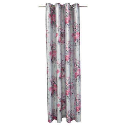 Tesco Vintage Floral Print lined eyelet Curtains W162xL137cm (64x54