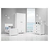 Bebecar Series White Art 3 Piece Nursery Roomset