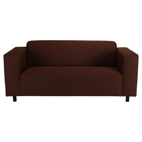 Stanza Fabric Medium 3 Seater  Sofa Chocolate