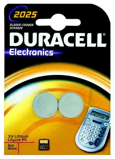 Duracell 2 Pack 165 mAh Lithium 2025 Batteries