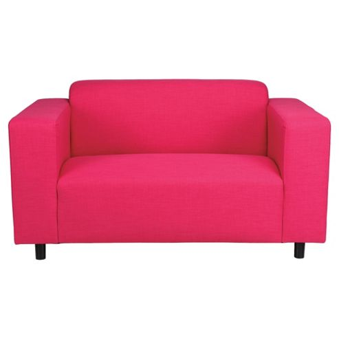 Stanza Fabric Small Sofa Pink