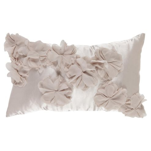 F&F Home 3d flower cushion, champagne
