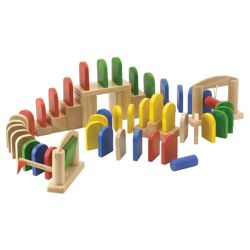 Voila Knock And Fall Wooden Toy