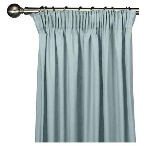 Tesco Plain canvas Lined pencil pleat Curtains W229xL183cm (90x72