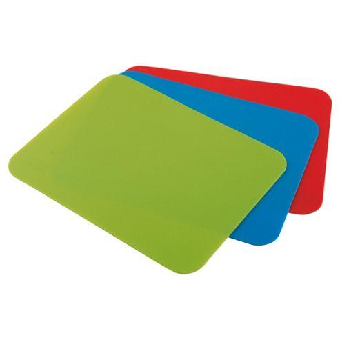 Tesco Set of 3 Flexible Chopping Boards