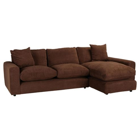 Valentino Chaise Sofa Chocolate Right Hand Facing