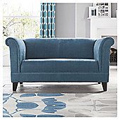 Millie Small Fabric Sofa Teal