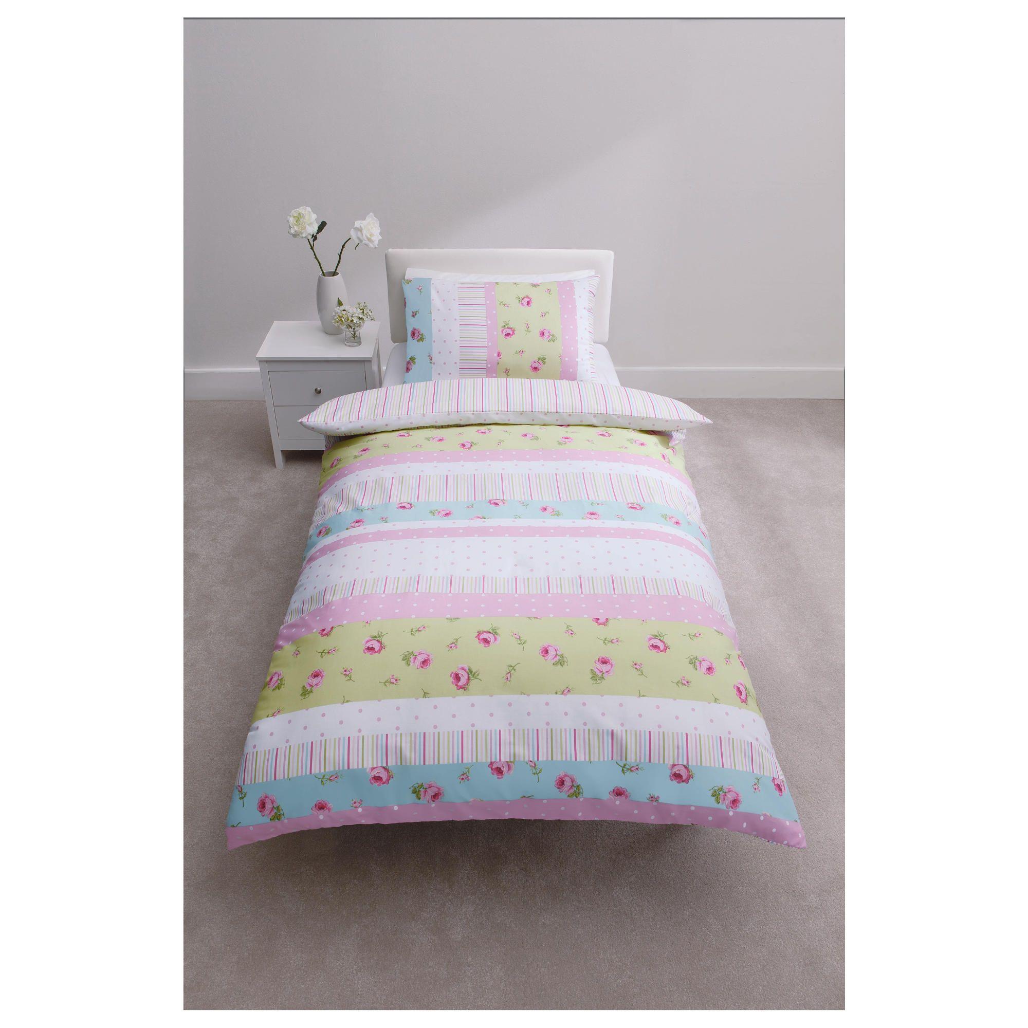 tesco rosebud duvet cover set single. Black Bedroom Furniture Sets. Home Design Ideas