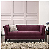 Millie Large Fabric Sofa Plum
