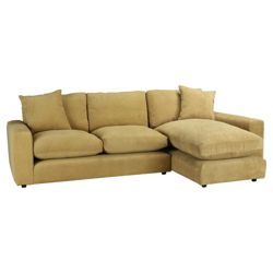 Valentino Chaise Sofa Pistachio Right Hand Facing