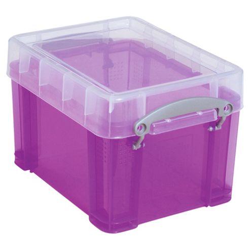 Really useful box 3l purple translucent