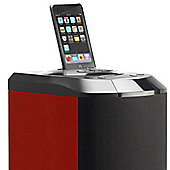 Lenco LCIPST1R iPod Tower – Red