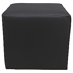 Stanza Leather Effect Cube / Foot stool Black
