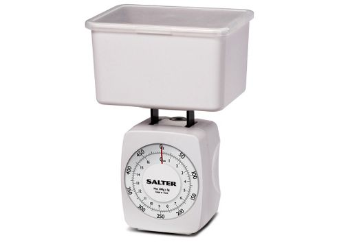 salter housewares 021 Kitchen Scale with Storage Container White