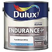 Dulux Endurance Matt Emulsion Paint, Pure Brilliant White, 2.5L