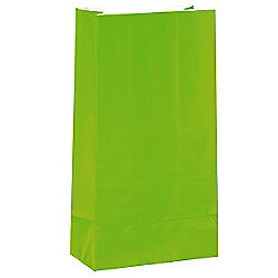 Lime Green Party Bags - Paper 25cm