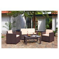 Allibert Victoria rattan effect 4 piece lounge set