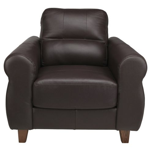 Fabio Leather Armchair Brown