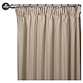Faux Silk Lined Pencil Pleat Curtains - Mocha