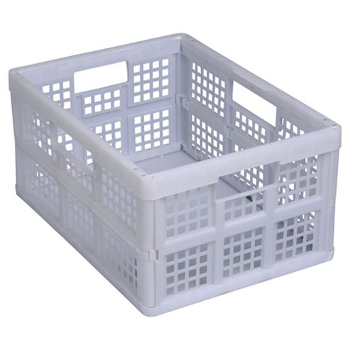 Really Useful 32 Litre Folding Crate White Pack of 3 32FW