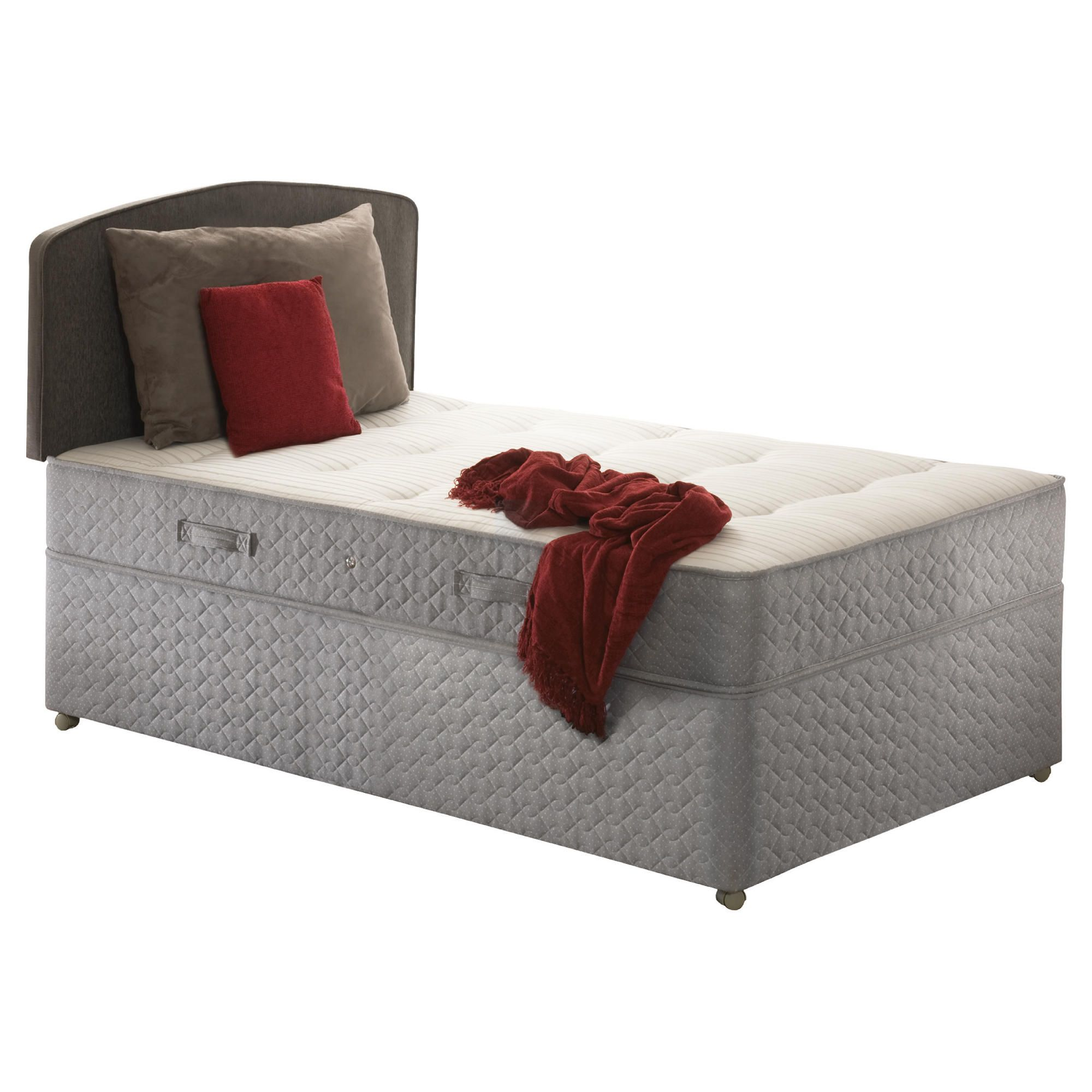 Sealy Posturepedic Ortho Backcare Plus Single Non Storage Divan Bed at Tesco Direct