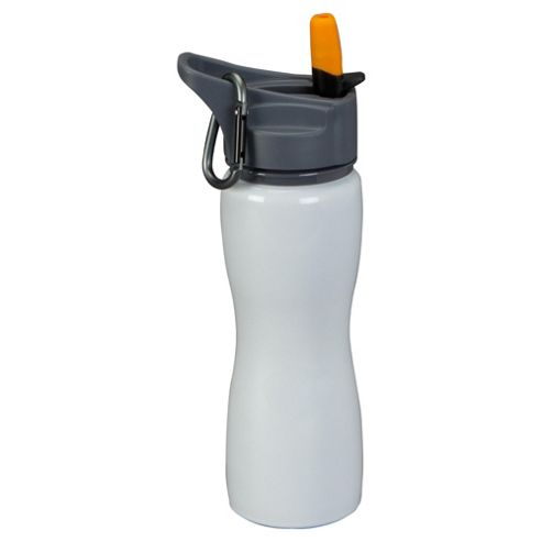 Tesco Stainless Steel Bottle with Carabiner