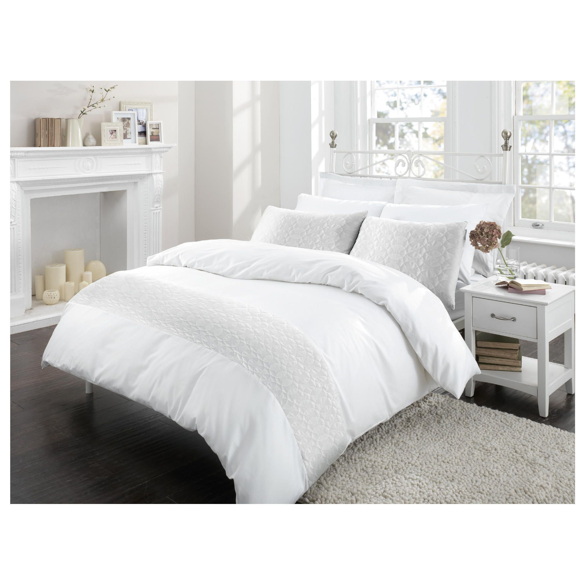 Home and garden bedroom finest pima cotton quilted for Pima cotton comforter