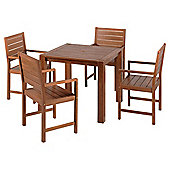 Hampton Wooden 4-seat Garden Furniture Set