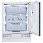 Bosch GUD15A50GB Under Counter Built In Freezer, Freezer Capacity: 98 Litres, Energy Rating A+, Width 59.8cm. White