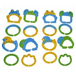 Brights Teether Links Blue & Yellow