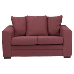 Amy Small Fabric Sofa Plum