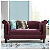 Millie Small Fabric Sofa Plum