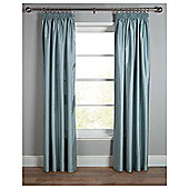 Tesco Faux Silk Lined Pencil Pleat Curtains - Duck egg