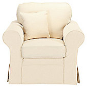 Louisa Loose Cover Only for Armchair Jaquard, Cream