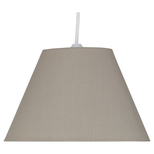 Tesco Lighting 31cm Plain Counter shade, Taupe