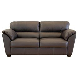 Leo Large Leather Sofa, Chocolate